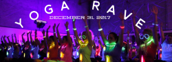 New Year's Eve Yoga Rave, December 31, 2017 with Courtney Chalfant
