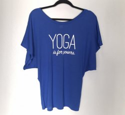 Yoga is for Posers Draped Tee