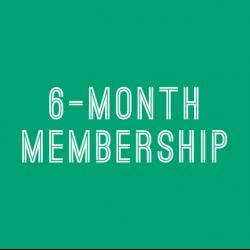 6 Month Membership (Paid in Full)