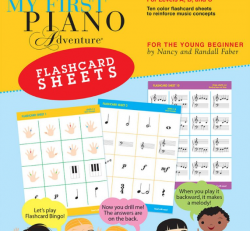 Flashcard Sheets - My First Piano Adventures for the Young Beginner