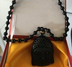 Obsidian (Buddha)  Necklace