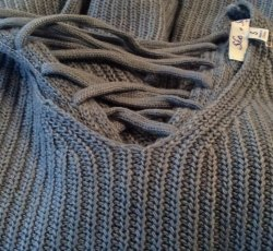 She and Sky blue sweater