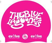 Blue Lagooners Silicone Swim Cap - Pink
