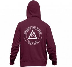 Sweat Shirts and Pants:  Maroon Lightweight Zip Hoodie (Unisex)