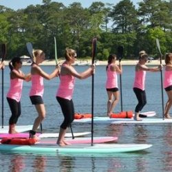Paddleboard Class (Yoga, Barre, or Bootcamp, Paddle101)