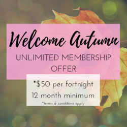 WELCOME AUTUMN MEMBERSHIP - UNLIMITED YOGA CLASSES (fortnightly payments, 12 month minimum)