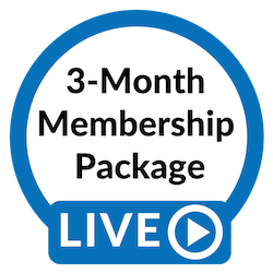 Blue Studios LIVE: 3-Month Membership Package