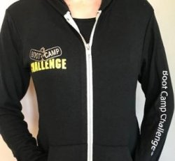 Boot Camp Challenge®  Zip Up Lightweight Hoodie (Shipping Included)