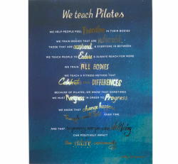 """We Teacher Pilates"" Poster"