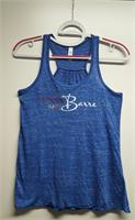 Meet me at the Barre Flowy Tank (Dark Blue Marble)