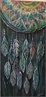 "Dream Catcher Painting by Jina Daniels (15x30) ""Dream Big"""
