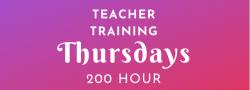 Fall Thursday Evenings Yoga Teacher Training 9/12-6/11