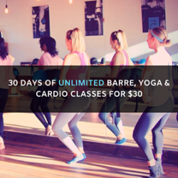 30 DAYS OF UNLIMITED CLASSES FOR $30!!