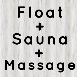 Float + Sauna + Massage