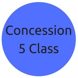 Concession Pass - 5 Yoga Classes (2 Mths Exp)