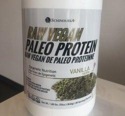 SCHINOUSSA Raw Vegan Paleo Protein - Vanilla 840g