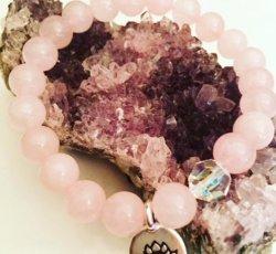 Bracelet - Rose Quartz Swarovski