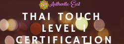 Thai Touch Level 1 Certification