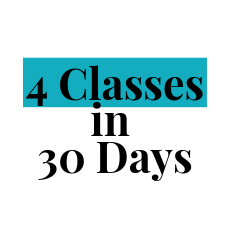 4 classes within 30 days package