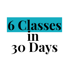 6 classes within 30 days package