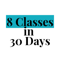 8 classes within 30 days package