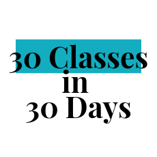 30 classes within 30 days package