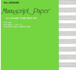 EZ Play Today Manuscript Paper - Wide Staff
