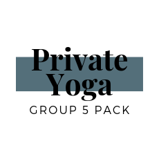 Group Private Yoga Package of 5 (for 1-3 People)
