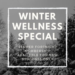 Winter Wellness Special - Unlimited Yoga for New Students $55 per Fortnight, 6 Month Expiry