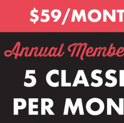PROMO $59 Monthly Autopay (5 classes/mo)