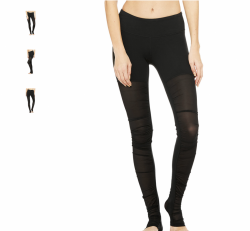 Alo Yoga Mesh Goddess Leggings, Black (used) size small, orig price $
