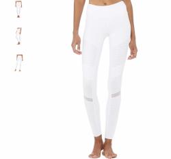Alo yoga high waist moto legging, white (size small) Original price $114