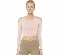 Alo Yoga HIGH LINE LONG SLEEVE TOP, Nector (NEW) size M, Original Price $114