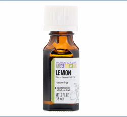Aura Cacia, Pure Essential Oil, Lemon (15 ml)