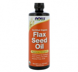 Now Foods, Certified Organic Flax Seed Oil (710 ml)