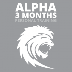 Alpha Personal Training 3mo. (1x/wk- 12 Sessions)