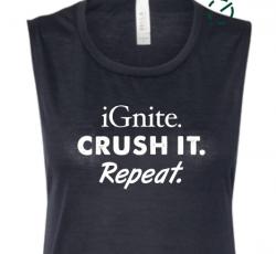 SALE! iGnite. Crush It. Repeat Muscle Tank