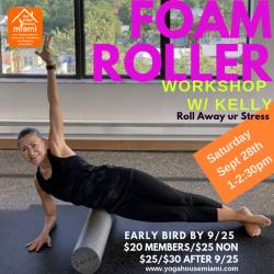 Sept 2019 Foam Roller Workshop Member Price