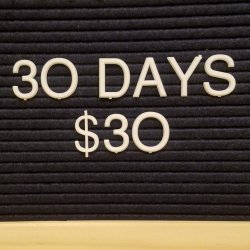 30 Days for $30