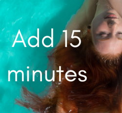 Add 15 min to your float (free for members)