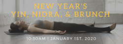 New Year's Yin, Yoga Nidra, & Brunch