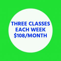 Three Classes Each Week