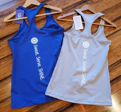 Racerback Tank Sweat Serve SHINE