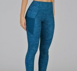 Glyder Social Legging - Moroccan Blue Illusionary