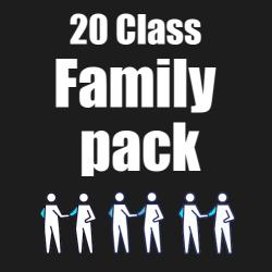 20 Pack Family Pass