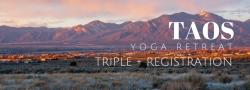 Taos Yoga Retreat - Triple + Registration