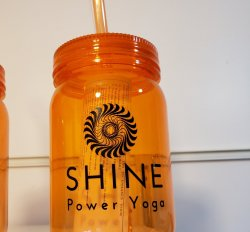 SHINE Orange Mason Jar
