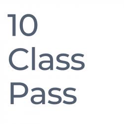 10 Class Pass - valid 4 months