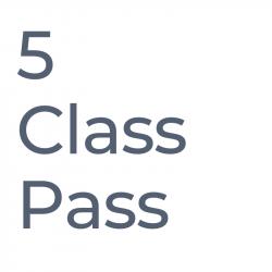 5 Class Pass - valid 2 months