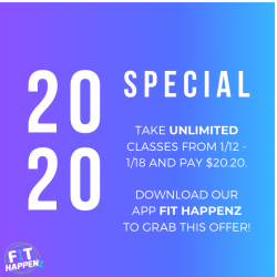 $20.20 Sale - One week of UNLMITED CLASSES!